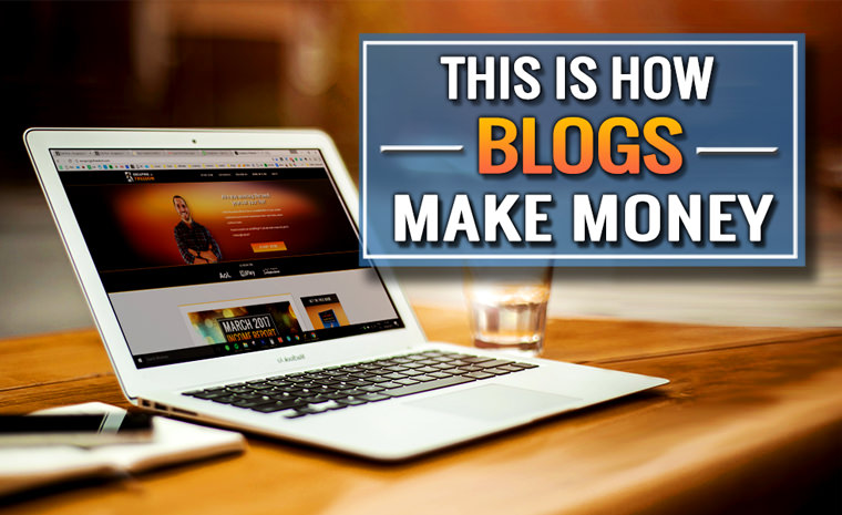 how blogs make money