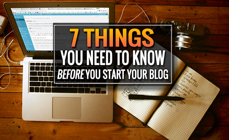 before you start your blog