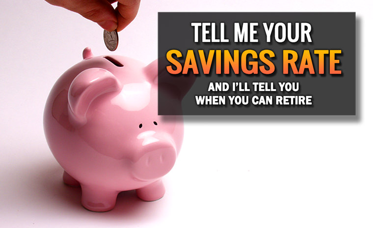 Tell Me Your Savings Rate and I'll Tell You When You Can Retire